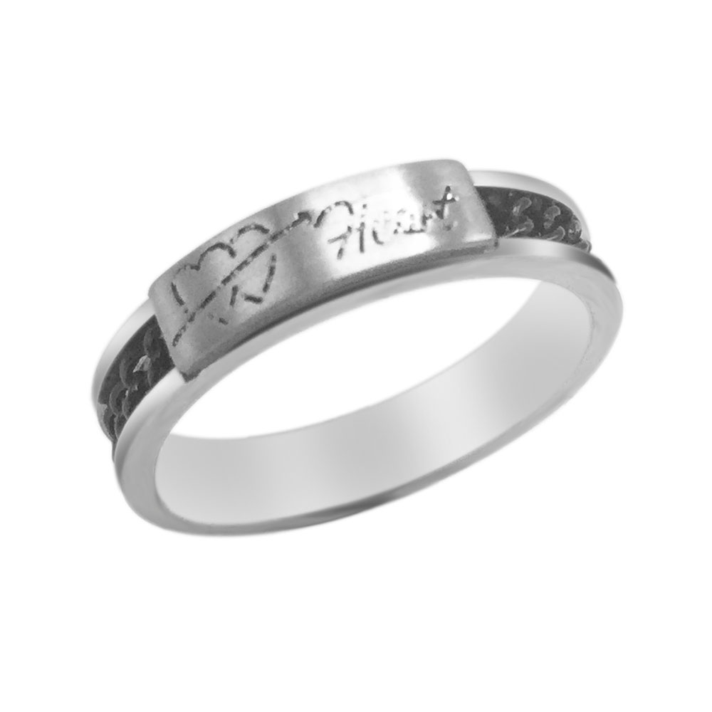 Fashion Romantic Love Rings Antique Silver Retro Vintage Style ...