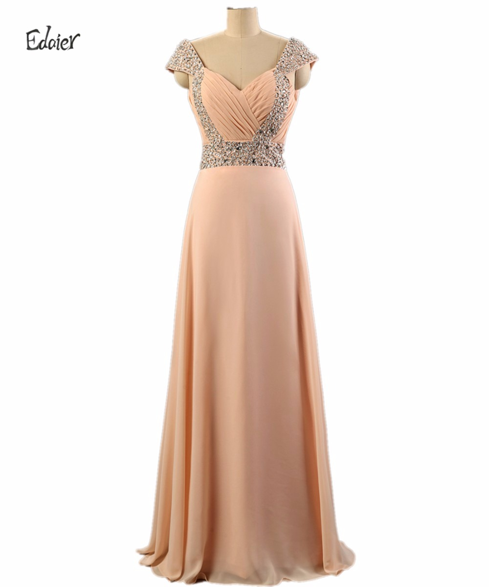 Online buy wholesale champagne chiffon bridesmaid dress from china 2017 floor length beaded bridesmaid dress edaie straps chiffon champagne a line crystals wedding guest ombrellifo Choice Image