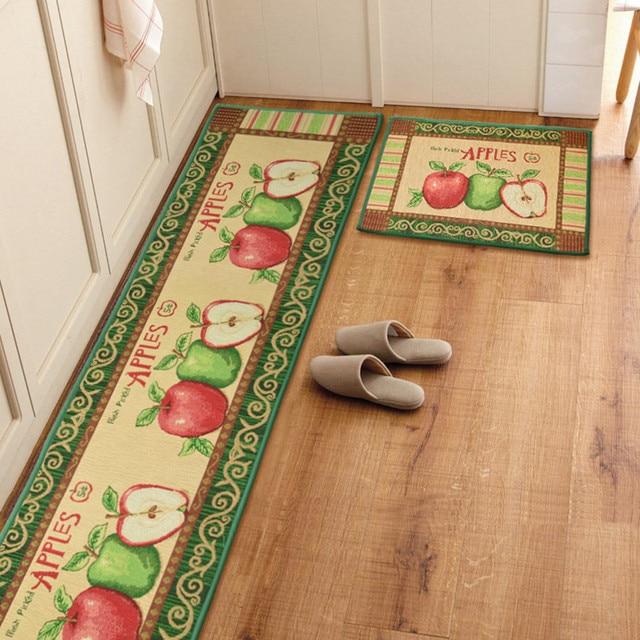 Yazi Vintage Apples Kitchen Rug Runner Soft Floor Carpet Anti Slip Bath  Entrance Door Mat