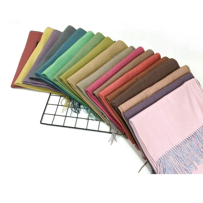 Women Cashmere Wool Solid   Scarf     Wraps   Warm Blanket   Scarves   Stylish