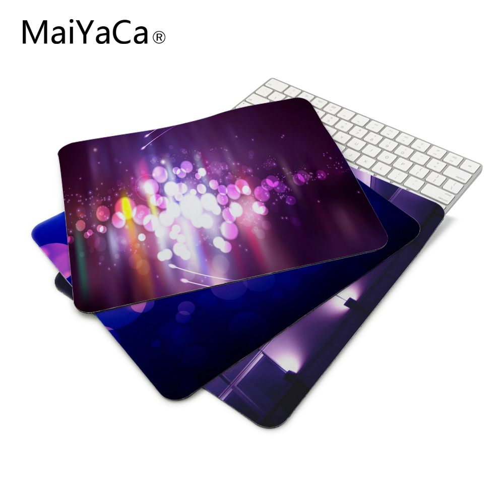 Purple Lights Computer Mousepad Gaming Padmouse Gamer Mat 22*18cm and 25*29cm