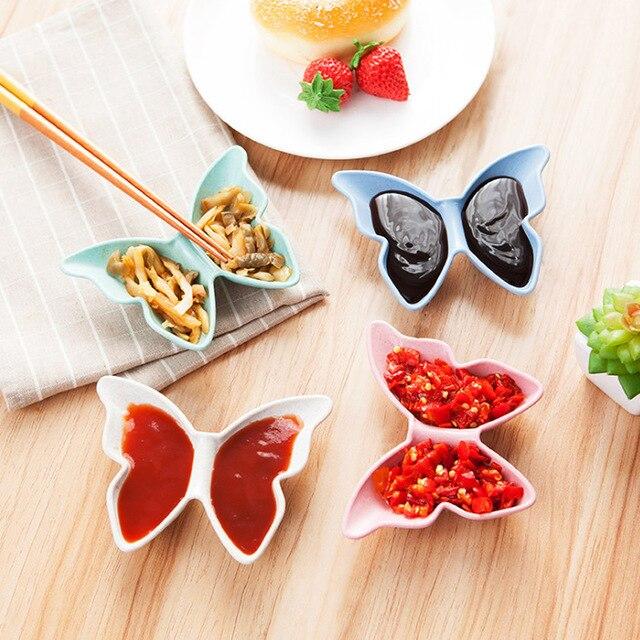 Lucu Makanan Pembuka Makanan Pembuka Hidangan Bentuk Bintang Kupu kupu Piring Mangkuk Kue Kecil