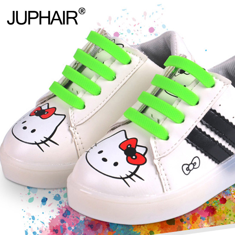 JUP3 Set 36 Roots Boy Girl Kid Lazy Shoelaces Laces Buckle Flat Square Head Bracelet Canvas Leisure Sport Shoe Silicone Elastic стринги lazy girl m