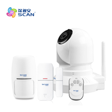 Home Security Alarm IP Camera Wireless WiFi Camera Surveillance 720P Night Vision CCTV Baby Monitor 360 mini ip camera wifi 1080p full hd wireless cctv camera store home security one key alarm infrared night vision baby monitor