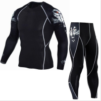 Mma Rashguard Men S Multi Functional Fitness Pants T Shirt Set 3D Print Men S Trousers