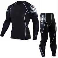 Mma Rashguard Men S Multi Functional Fitness Pants T Shirt Set 3D Print Men S Trousers