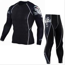 mma rashguard men's multi-functional fitness pants-T-shirt set 3D print  men's trousers men's trousers rashgard kit