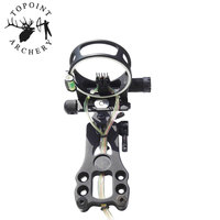 1Set Archery 5 Pin Fiber Optics Bow Sight Left/Right Hand Adjustable Compound Bow Sight For Outdoor Hunting Shooting Accessories