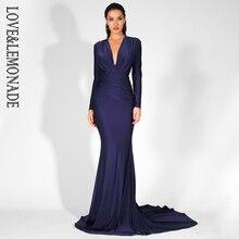 v-образным ткани платье темно-синее
