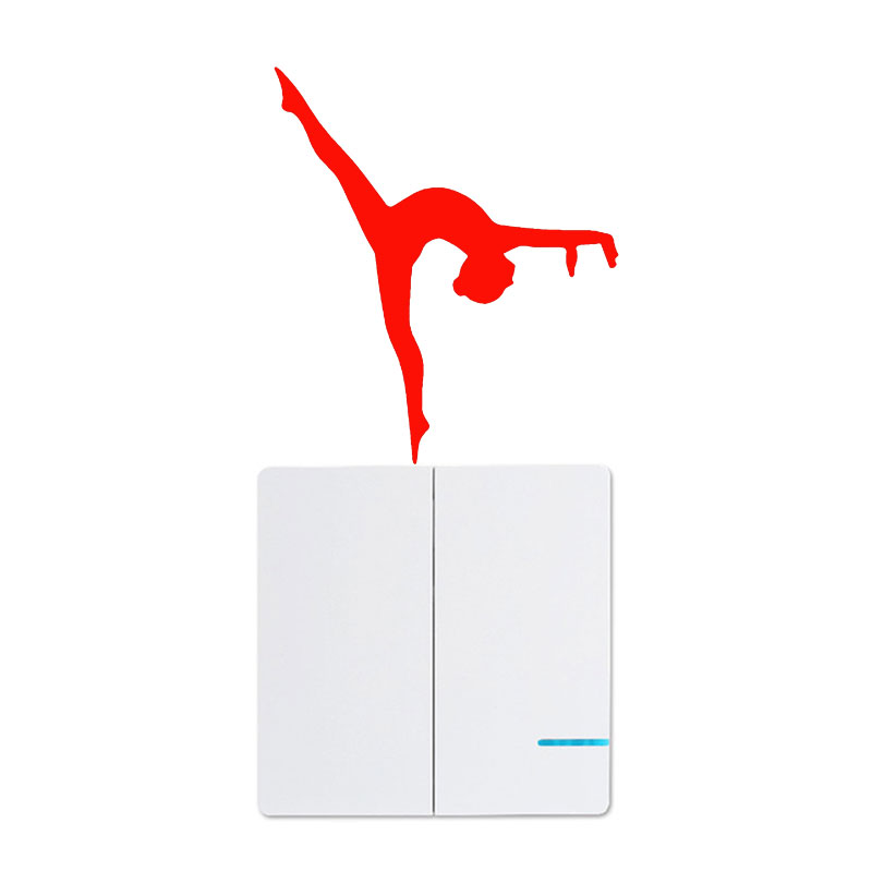 Artistic Gymnastics Switch Sticker Stylish Creative Vinyl Laptop Decal Tuning Funny Waterproof Automotive Products Cars Styling