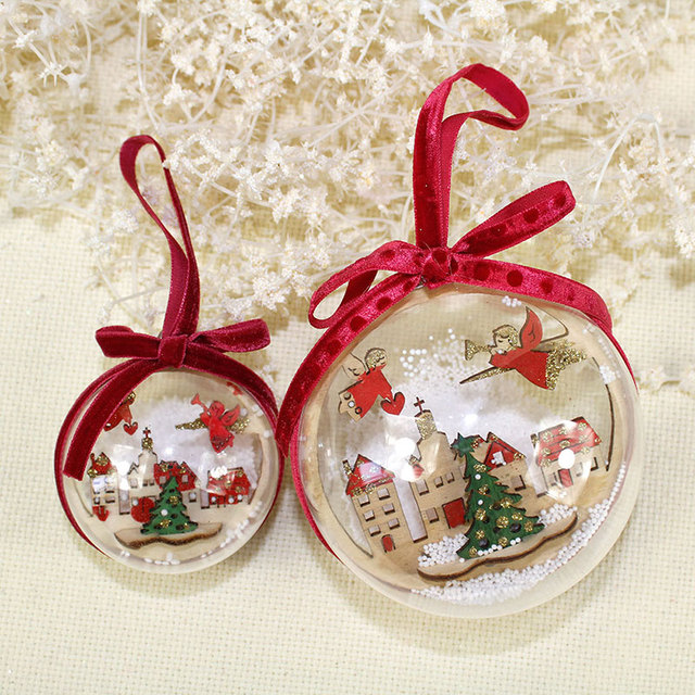 2pcsset 6cm 9cmclear plastic christmas balls wedding birthday party decorations festive gift diy christmas - How To Decorate Christmas Balls