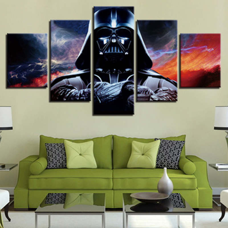 Star Wars Wallpaper HD Art Canvas Posters Prints Wall Art Oil Painting Decorative Pictures Modern Home Decoration Accessories in Painting Calligraphy from Home Garden