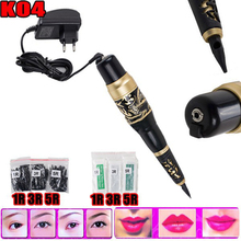 NEW Permanent makeup machine Kits Rotary Tattoo Machine Microblading Pen with 30 Needles 30 Tips For Tattoo kits Free Shipping