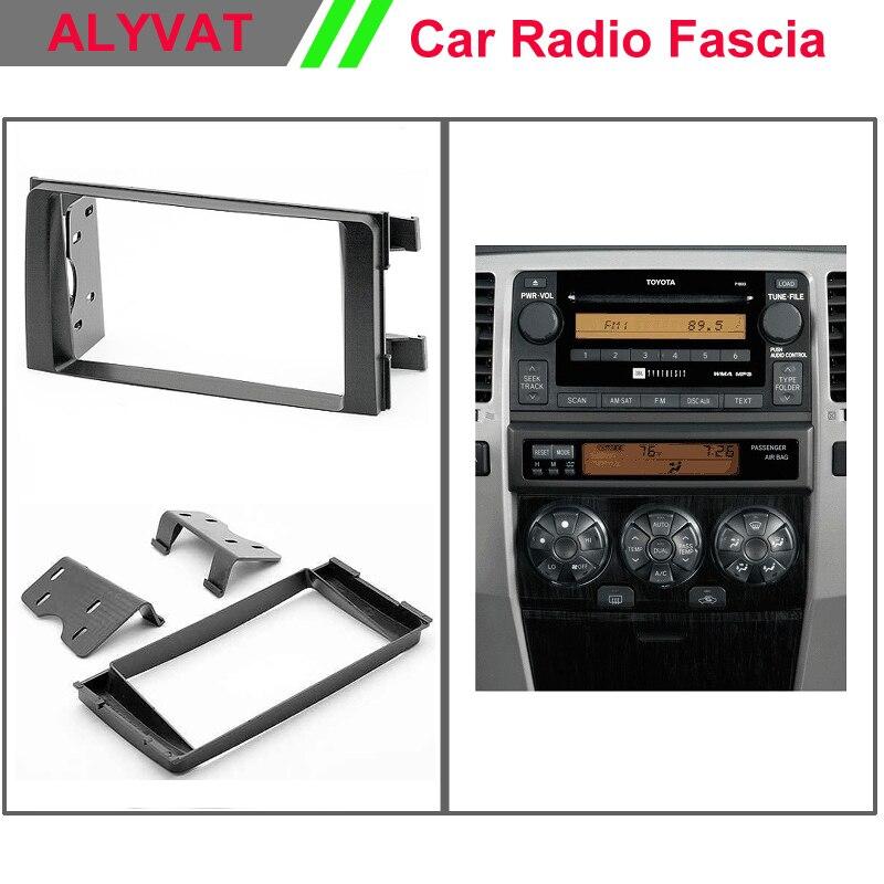 Высококачественная Автомобильная фасция facia Панель рамка для TOYOTA 4runner 2003 2008 стерео фасции Dash CD отделка Установка комплект