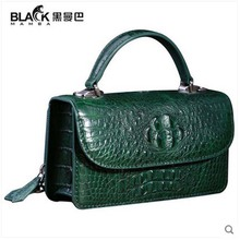 heimanba crocodile skin Small square women bag 2017 new one shoulder  cross Thailand small bag real crocodile handbag female