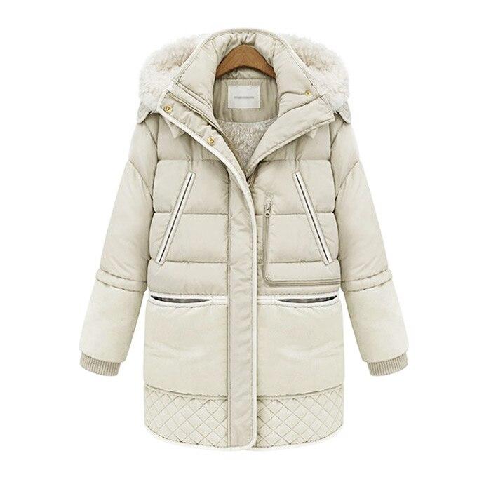 Women's Thickened Down Lamb Jacket Women   Parkas   Female Winter Coat Thickening Cotton Jacket Womens Outwear   Parkas   For Women