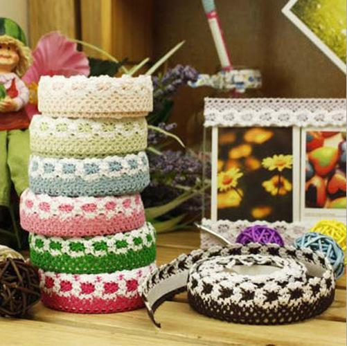 Fancy Lace Sticker Tapes Adhesive Edge Tape Cotton Fabric Material ...