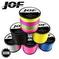 500 м X8 JOF бренд супер сильная японская мультифиламентная 100% PE плетеная леска 8 прядей плетеные провода от 22LB до 78LB