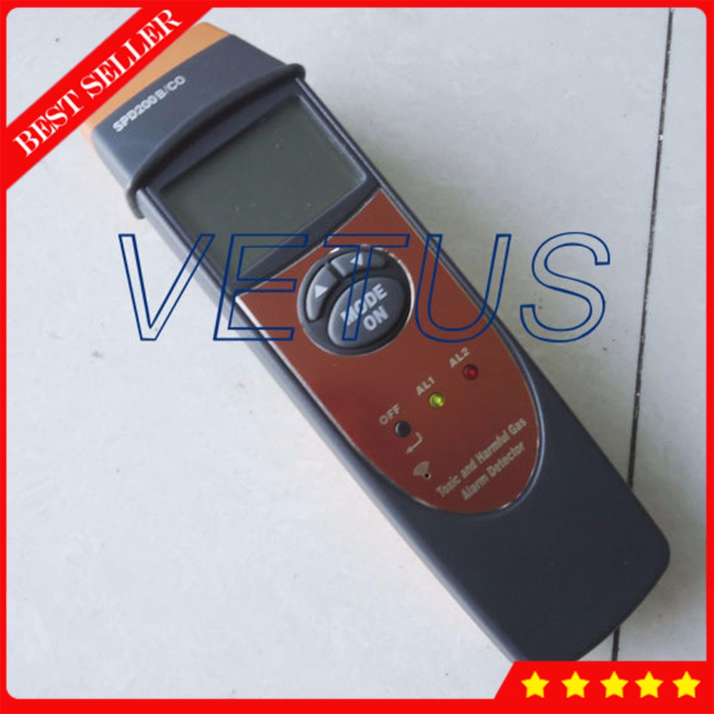 SPD200/CO Portable Carbon Monoxide Detector with 0-1,000PPM Gas Analyzer CO Gas Detector tester