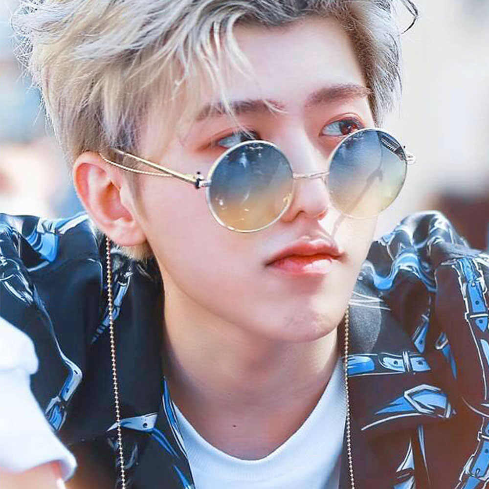 66ad36bd636 New 2019 Vintage Fashion Glasses Men Round Sunglasses Retro Cool Hip Hop  Style Black Red Yellow