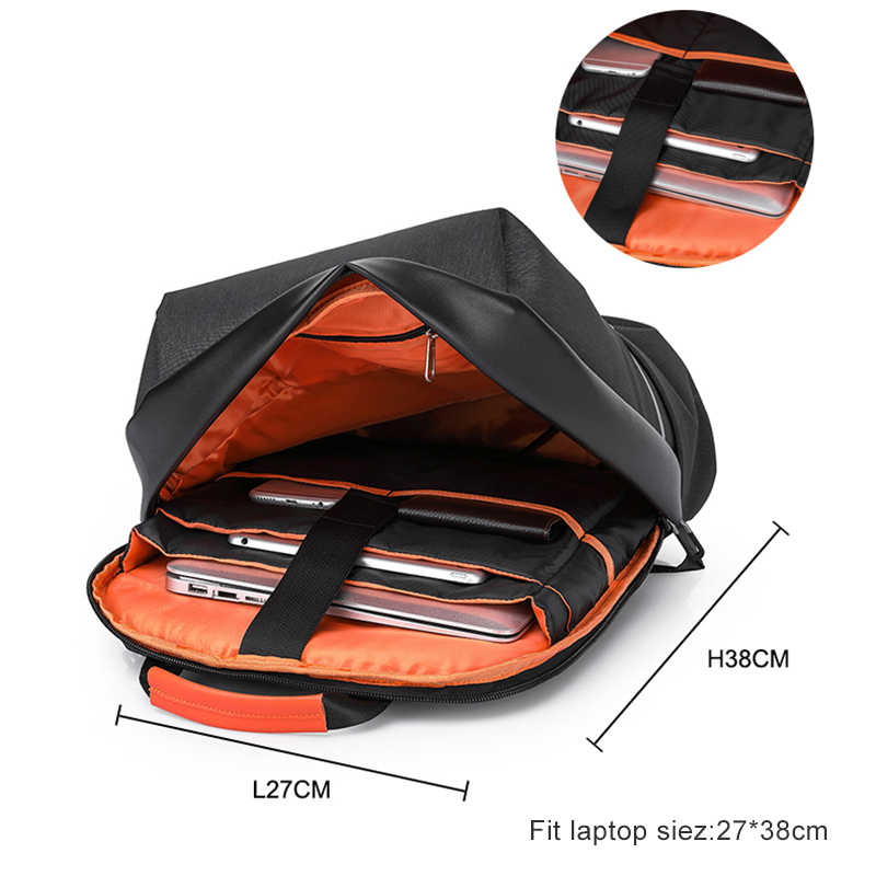 2019 Новый непромокаемый Anti theft дизайн школы рюкзак для подростков для мужчин 15,6 ноутбук рюкзак USB порты и разъёмы дорожный рюкзак wo