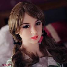 153 cm real silicone sex dolls,realistic human mannequin sex robot doll,big breast,lifelike tongue,teeth,3-holes,metal skeleton