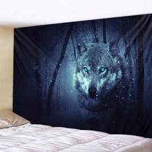 цены на Wolf's Gaze Holy Animals Tapestry Decoration Wall Hanging Lion Wolf Tiger Pattern Background Wall Tapestry Home Textile  в интернет-магазинах