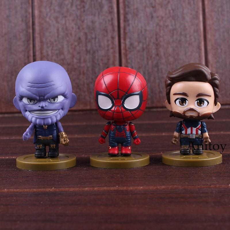 font-b-marvel-b-font-avengers-infinity-war-spiderman-thanos-captain-america-q-version-pvc-figure-collectible-model-toy-car-decoration-doll