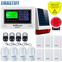 GSM App SIM Security Alarm System Wireless Solar Outdoor Light Siren Gsm SMS Alarm System Simple