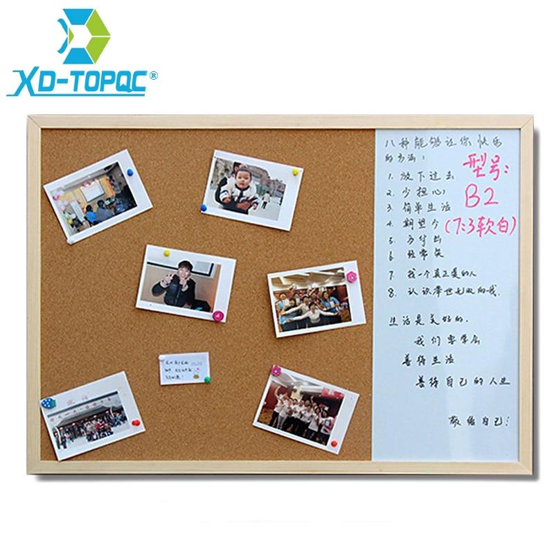 XINDI 30*40cm Whiteboard Cork Board Combination 3:1 Dry Wipe Bullentin Drawing Board Pine Wood Frame New Magnetic White Boards 1
