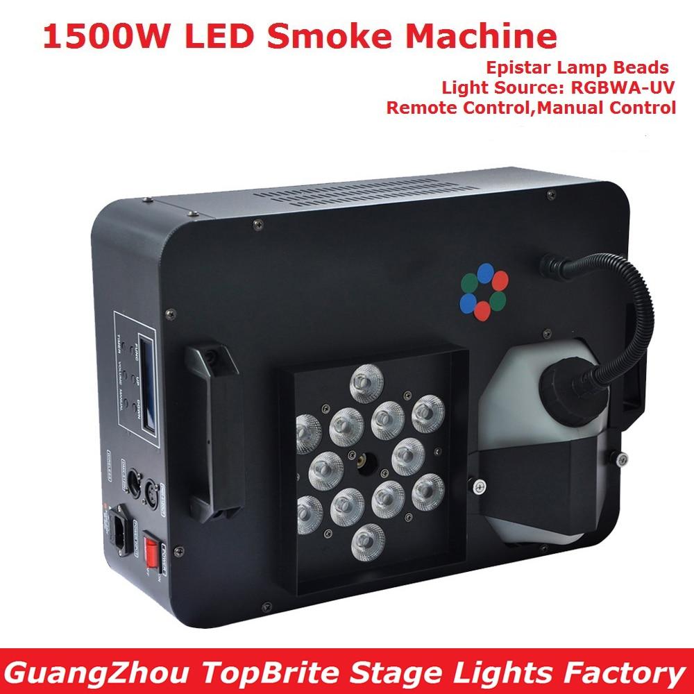 Eyourlife 2017 Smoke Machine 1500W Fog Machine High Quality LED Lights DJ Disco KTV Stage Effect Lighting With IR Remote Control цена 2017