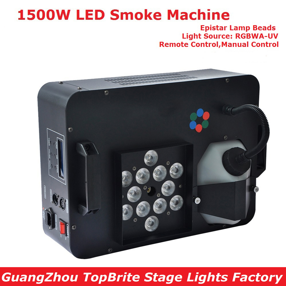 Eyourlife 2017 Smoke Machine 1500W Fog Machine High Quality LED Lights DJ Disco KTV Stage Effect Lighting With IR Remote Control