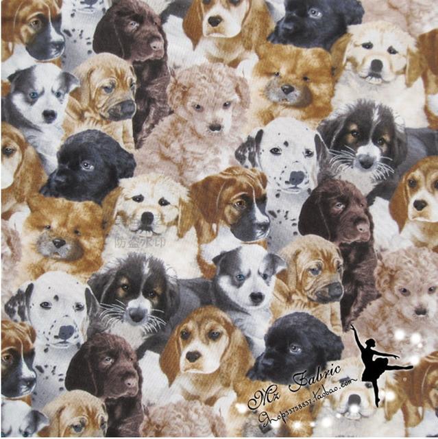 110*50 cm 1 stück Hund Stoff 100% Baumwolle Stoff Patchwork Welpen ...