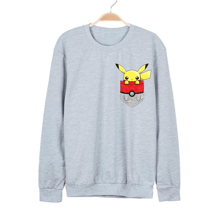 Anime Pokemon Hoodies For Men Sping Long Sleeve Sweatshirts Pikachu Go Pocket Printed Men Hoodie Sudaderas Hombres Clothes Z40