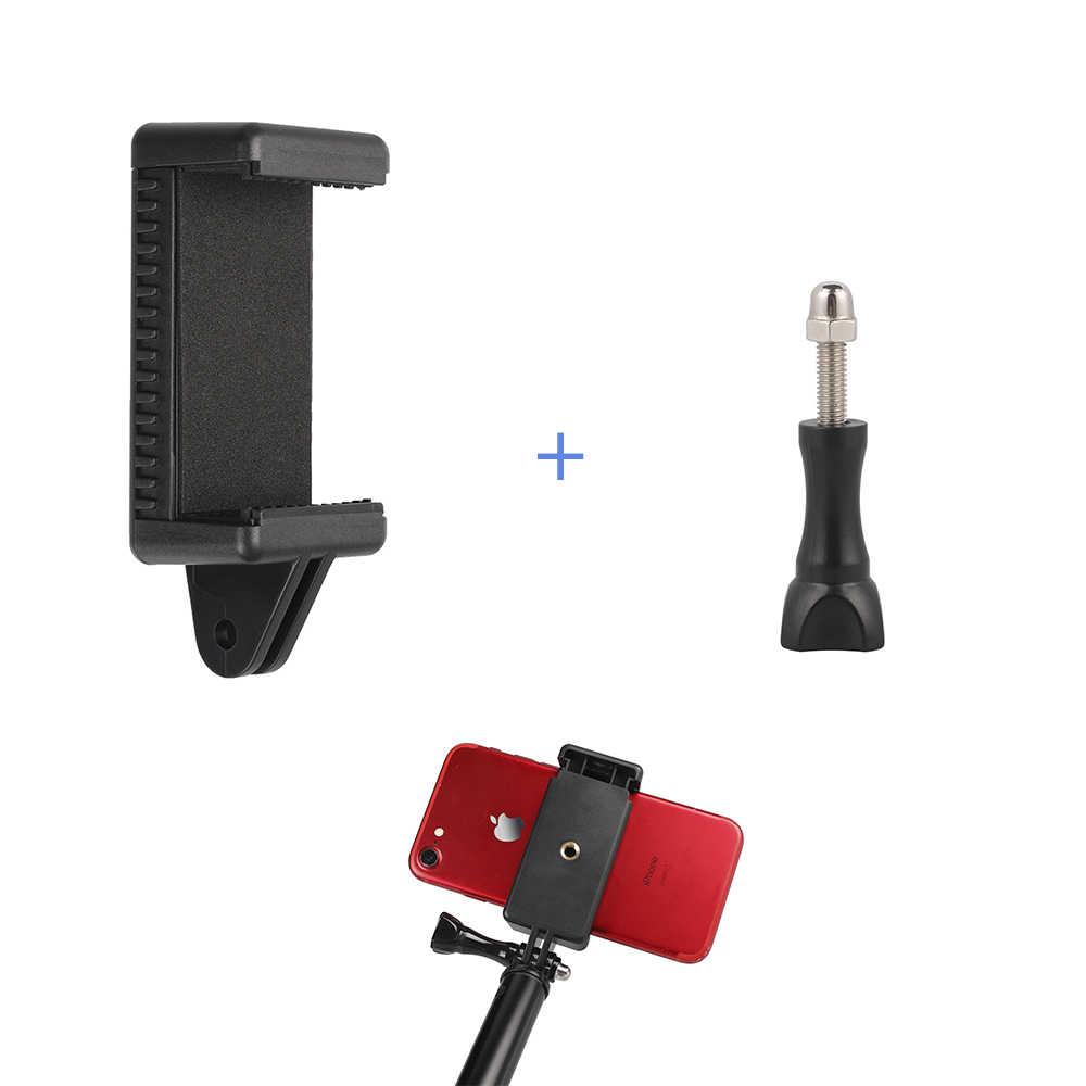 モノポッド Selfie スティック三脚携帯携帯電話クリップホルダーとネジため iPhone9 8 × 7 6 プラス XiaomiNote 7 Redmi 7