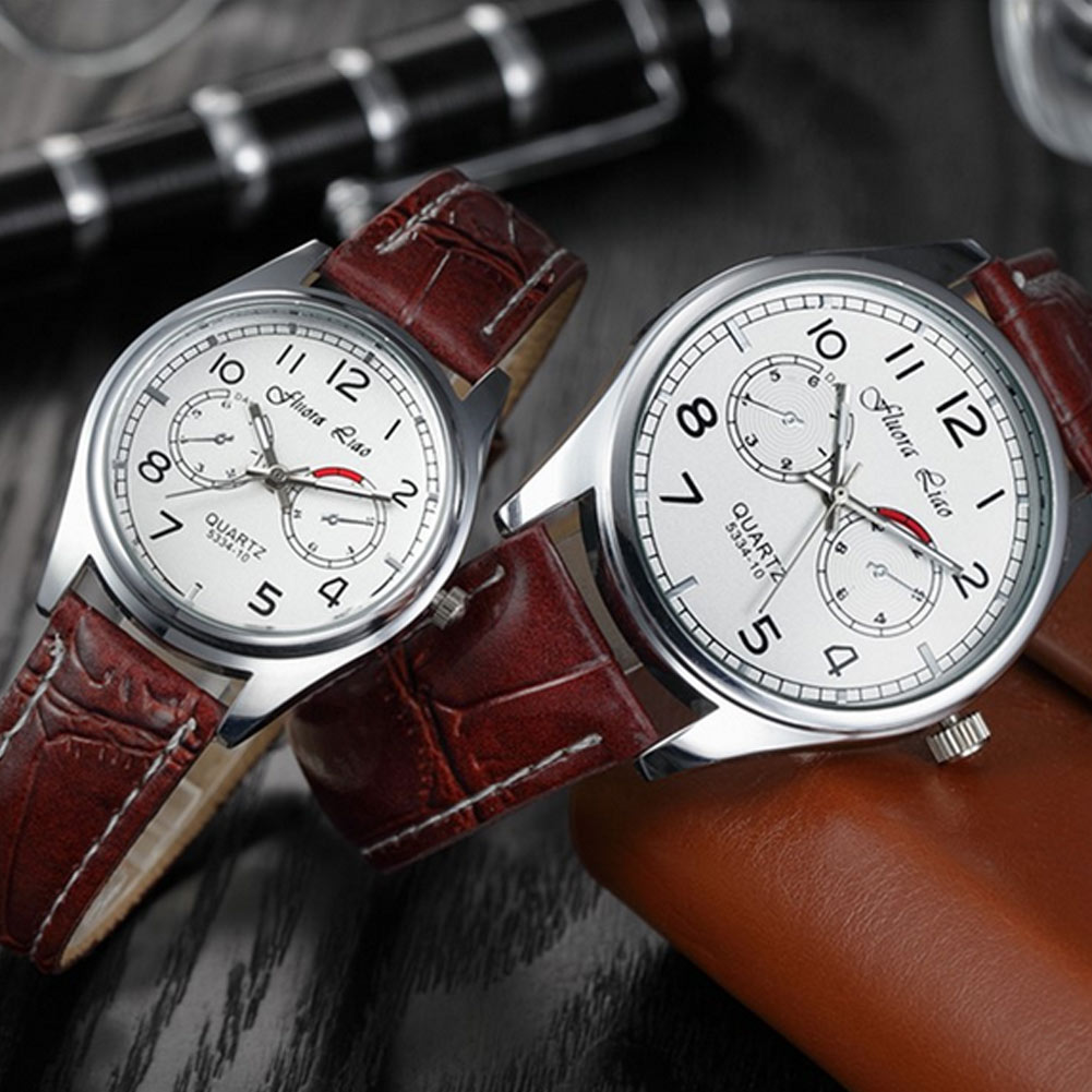 Fashion Women Men Quartz Watch Casual Lovers PU Leather Strap Watches Wristwatch Gifts ~ TT@88