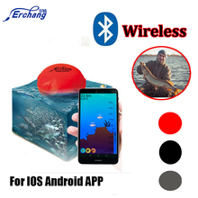 Erchang Portable Wireless Sonar Fish Finder 36M/118ft Depth Sea Lake Fish Detect iOS Android App Fish Finder