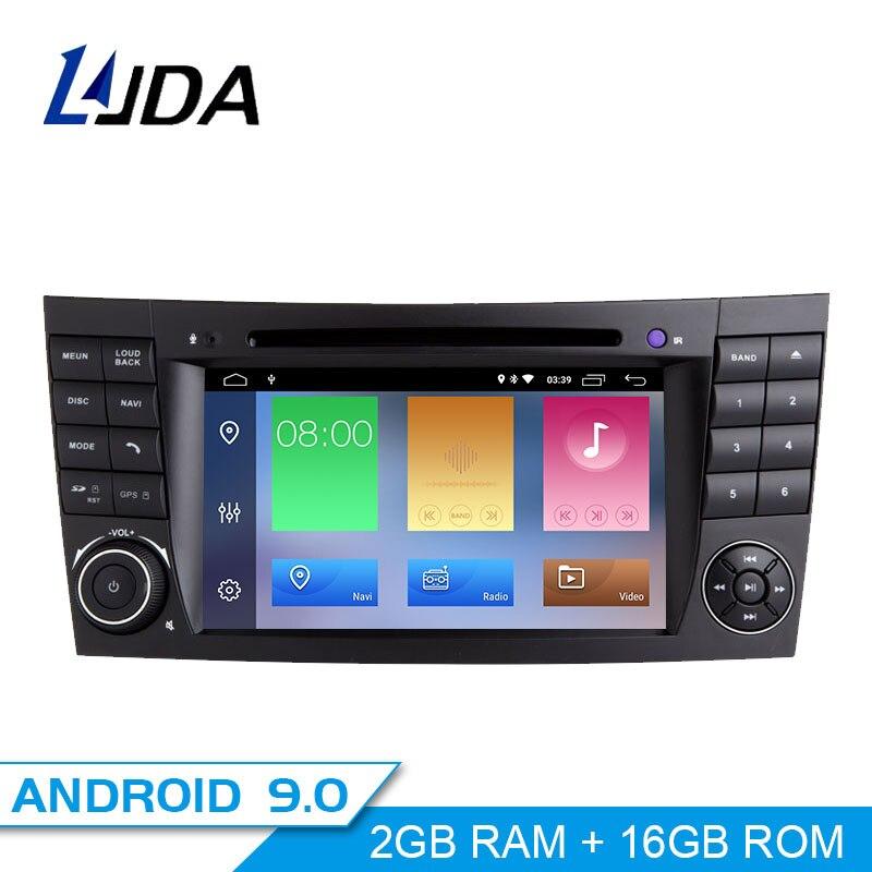 Autoradio LJDA 2 Din Android 9.0 pour Mercedes Benz classe E E200 E220 E300 W211 E320 autoradio stéréo Auto Audio GPS DVD IPS