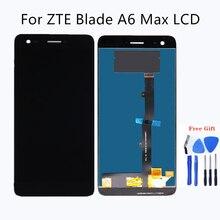 Per zte blade A6 Max del telefono mobile dello schermo di tocco del pannello di vetro display digitale unità per zte A6 massimo LCD del pannello di vetro display