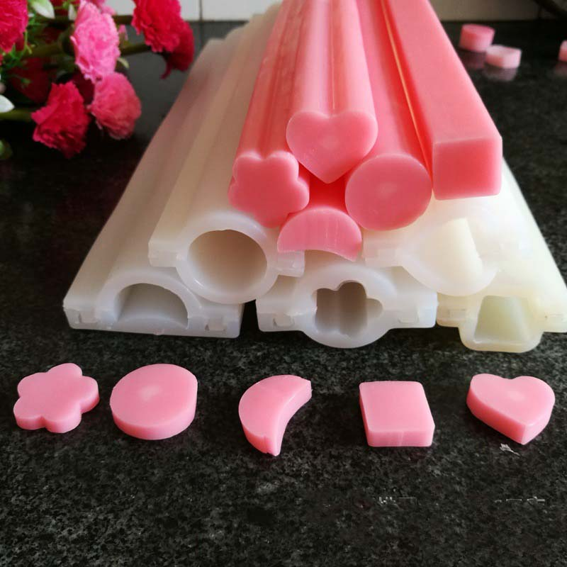 Bar Cart Cheap Heart Round Shape Silicone Tube Soap Mold Moule Savon