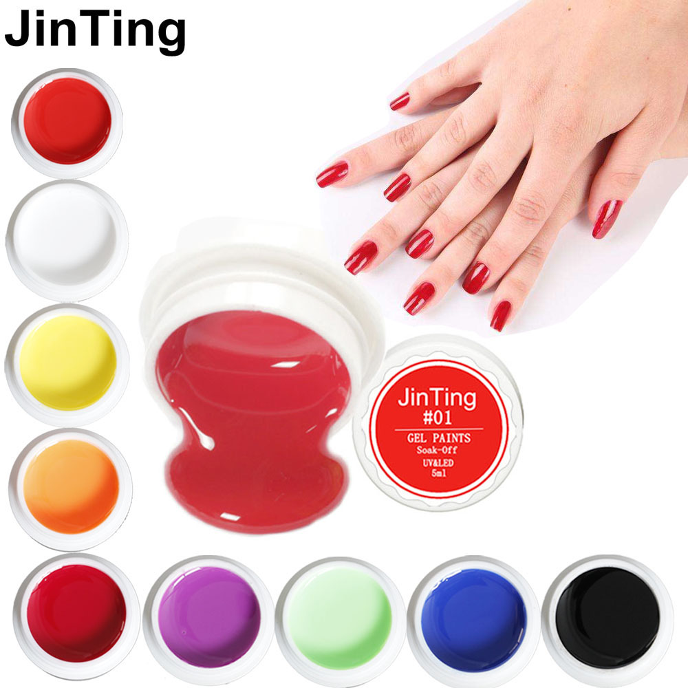 Bright face paint body face paints 1003 blue paint blue color - Jinting Painting Gel 5ml Led Lamp 12 Pure Solid Colors 2017 Hottest Gel Polish Nail Art