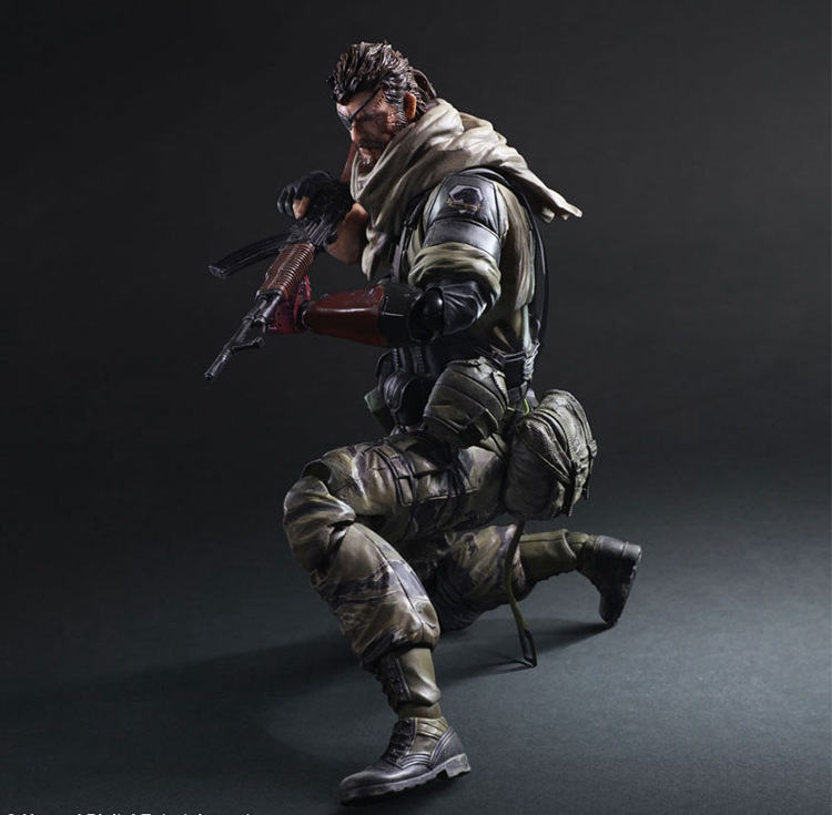 цена на Metal Gear Solid Solidus Snake Play Arts Kai GROUND ZEROES PA 27cm PVC Action Figure Model Doll Toys Kids Gift