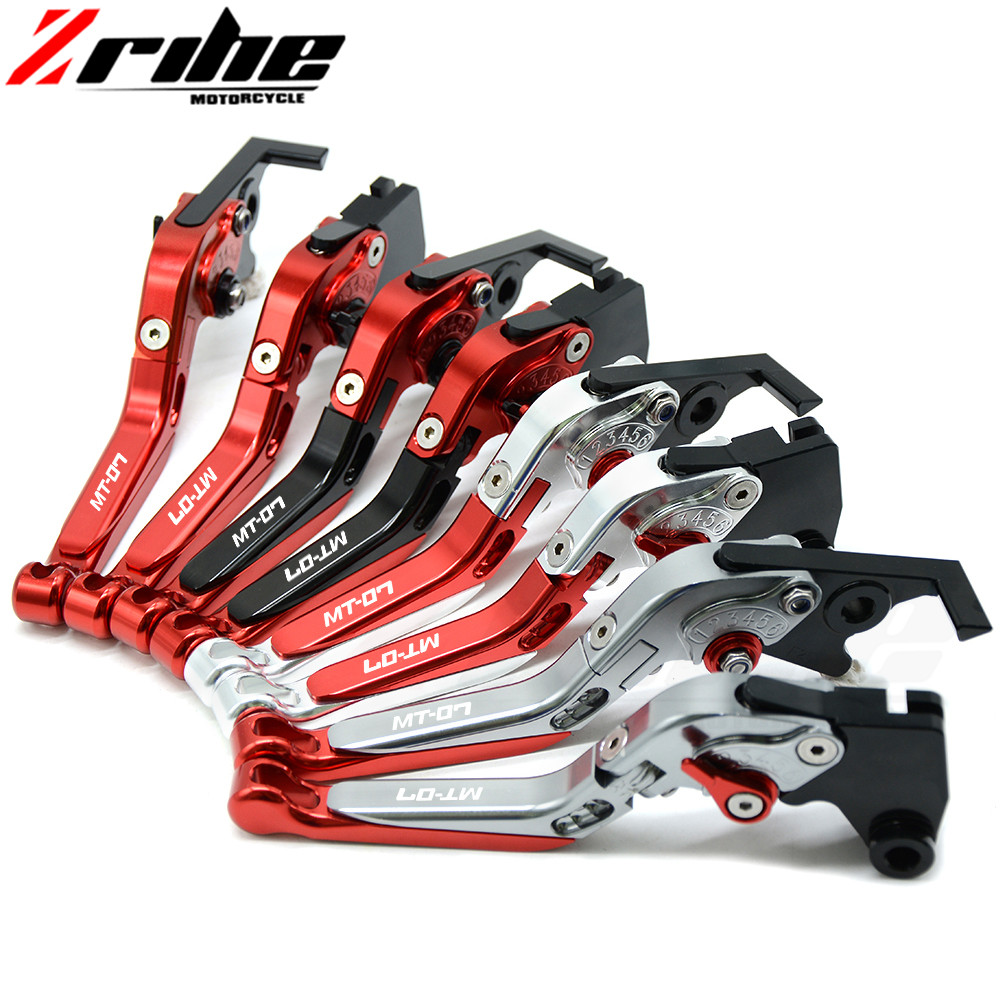Have MT-07 Logo Motorbike Motorcycle aluminum Folding Black Brake Clutch Levers For Yamaha MT-07 MT07 MT 07 2014 2015 14 15 2016