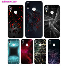 Silicone Case Abstract form for Huawei Nova 3 4 Honor 7C 7A 8 8X 9 10 Y5 Y6 Y7 Y9 V20 Lite Pro 2019 2018 Cover