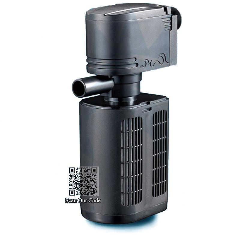 Kuat Pompa Filter Akuarium 12/18/25/35W untuk Ikan Tangki Filtrasi, kolam Submersible Biologis Spons Filter Pompa Semprot