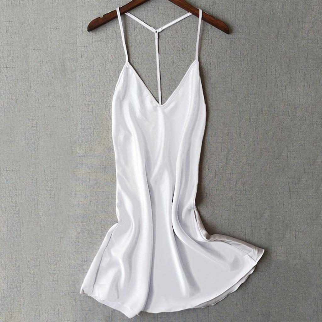 Sexy Robe De Nuit Femme Homewear Women Satin Sleepwear Babydoll Lingerie Nightdress Nuisette Femme De Nuit Lace Robes