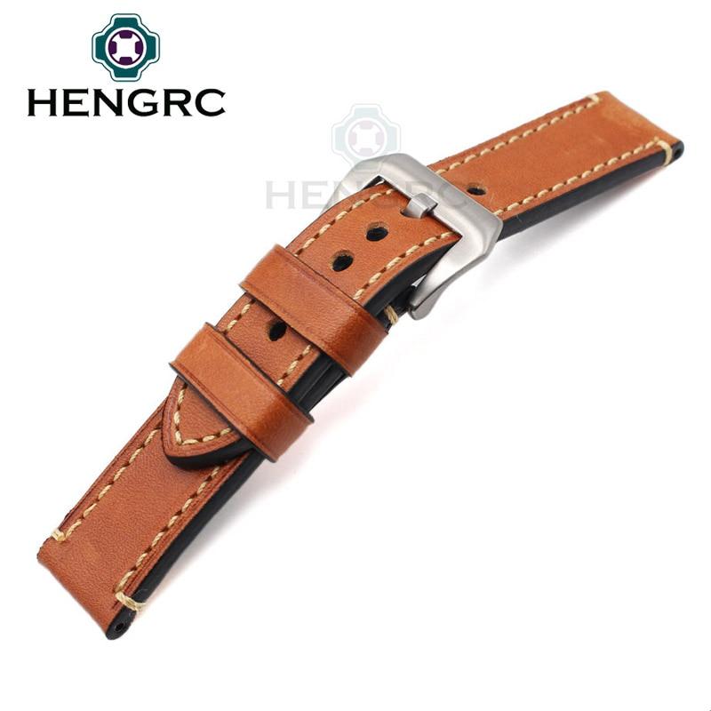 Pulsera de correa de reloj de cuero genuino 24 mm 22 mm 20 mm Correa - Accesorios para relojes - foto 5