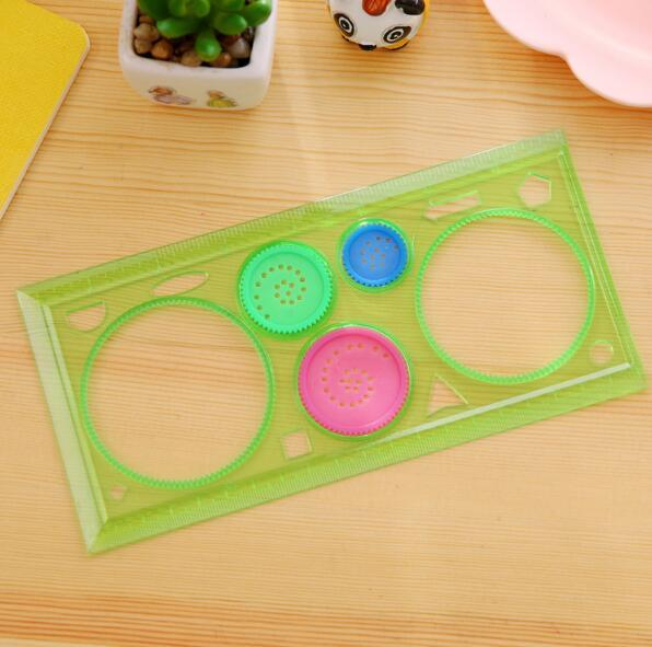 Painting Multi-function Puzzle Spirograph Geometric Ruler Drafting Tools For Students Drawing Toys Children Learning Art Tool 3