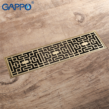 GAPPO drains square anti-odor floor drain shower drain strainer Shower Waste Drain Bathroom shower Floor cover