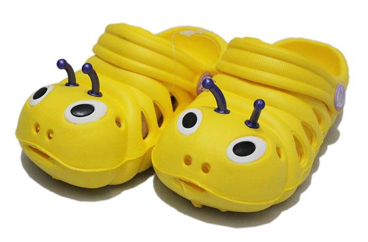 Летние от 1 до 5 лет детские сандалии мультфильм для мальчиков и девочек садовая обувь мягкая подошва детские тапочки детская обувь - Цвет: 4